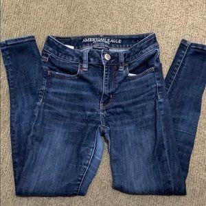 American eagle Super stretch skinny jeans 2p